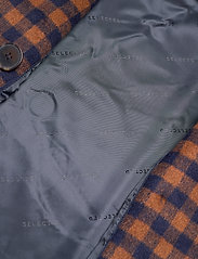 Selected Femme - SLFELEMENT CHECK WOOL COAT B - ullkappor - maritime blue - 4
