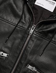Selected Femme - SLFDIDDE LS HOODI LEATHER JACKET W - skinnjackor - black - 2