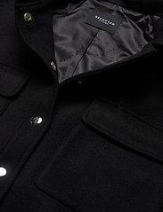 Selected Femme - SLFTESSA WOOL SHIRT JACKET - wool jackets - black - 2