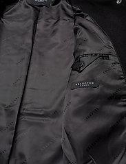 Selected Femme - SLFTESSA WOOL SHIRT JACKET - wool jackets - black - 4