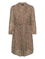 SLFDAMINA-ANNI 7/8 DRESS EX - TANNIN