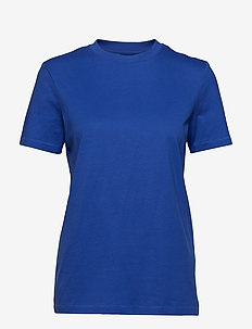SLFMY PERFECT SS TEE BOX CUT COLOR - DAZZLING BLUE