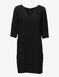SLFTUNNI SMILE 3/4 DRESS NOOS - midi dresses - black
