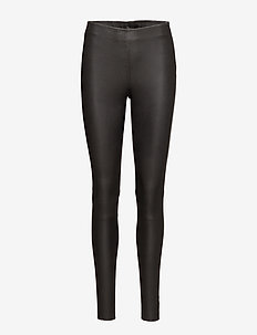 SLFSYLVIA MW STRETCH LEATHER LEGGIN NOOS - læderbukser - black