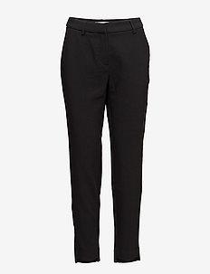 SLFAMILA MW PANT NOOS - bukser med lige ben - black