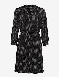 SLFDAMINA 7/8 AOP DRESS NOOS - skjortekjoler - black