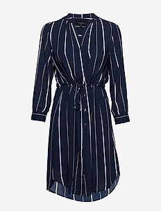 SLFDAMINA 7/8 AOP DRESS NOOS - shirt dresses - dark sapphire