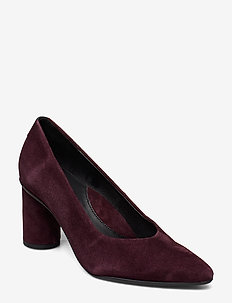 SLFALEX SUEDE ROUND HIGH HEEL B - klassiske pumps - decadent chocolate