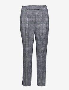 SLFMANNY MW CROPPED PANT H B - spodnie rurki - medium grey melange