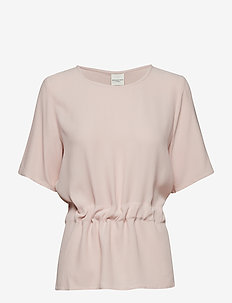 SLFTANNA SS TOP NOOS - basis t-shirts - sepia rose