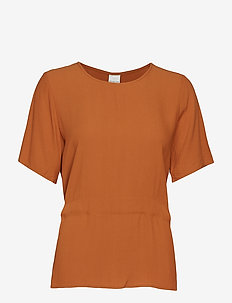 SLFTANNA SS TOP B - t-shirty - glazed ginger