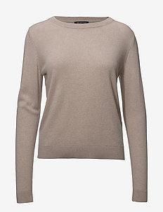 SLFAYA CASHMERE LS KNIT O-NECK NOOS - ADOBE ROSE
