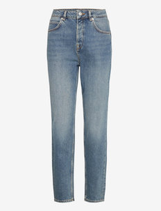 SLFFRIDA HW MOM MID BLU JEANS U NOOS - straight jeans - medium blue denim