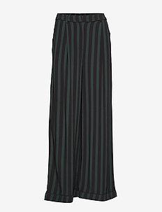 SLFFLORENTA HW MAXI PANTS B - bukser med brede ben - black