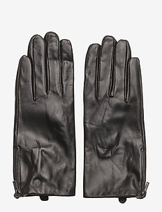 SLFMIRA LEATHER GLOVE B - BLACK
