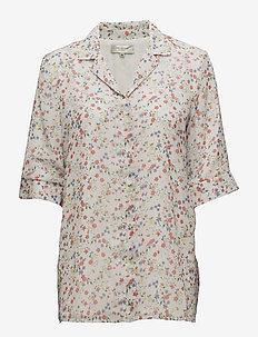 SFMEDOA 3/4 SHIRT EX - blouses à manches courtes - snow white