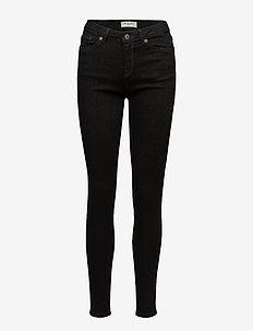 SLFIDA MW SKINNY  BLACK JEANS W NOOS - skinny jeans - black