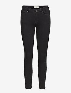 SLFIDA MW SKINNY  BLACK JEANS W NOOS - skinny jeans - black denim