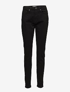 SLFMAGGIE HW SKINNY BLACK JEANS W NOOS - bukser med smalle ben - black