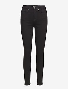 SLFMAGGIE HW SKINNY BLACK JEANS W NOOS - pillihousut - black denim