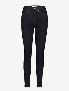 SLFMAGGIE HW SKINNY RINSE JEANS W NOOS - dżinsy skinny fit - dark blue denim