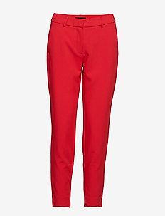 SLFAMILA MW PANT TRUE RED B - bukser med smalle ben - true red