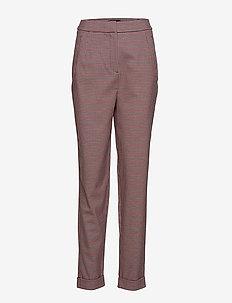 SLFBEATRICE HW FOLD UP PANT B - bukser med smalle ben - true red
