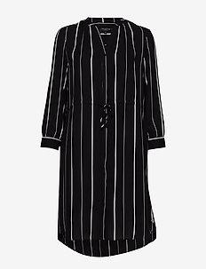 SLFDAMINA 7/8 AOP DRESS B - BLACK