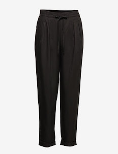 SLFPORTA MW ANKLE PANT B - rette bukser - black
