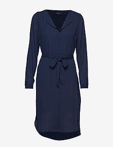 SLFDYNELLA LS DRESS NOOS - midi dresses - dark sapphire