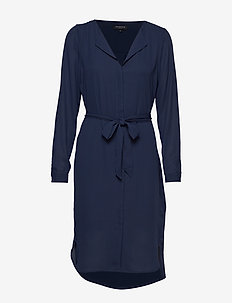 SLFDYNELLA LS DRESS NOOS - robes midi - dark sapphire