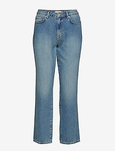SLFJANE MW STRAIGHT MINERAL BLUE JEANS W - straight jeans - light blue denim