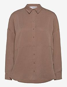 SLFTRIXY LS SHIRT B - long-sleeved shirts - fossil