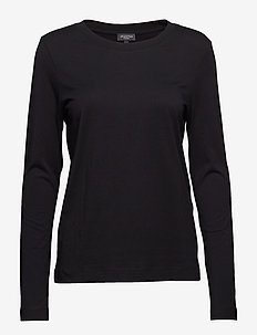 SLFSTANDARD LS TEE B - long-sleeved tops - black
