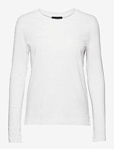 SLFSTANDARD LS TEE B - long-sleeved tops - bright white