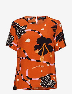 SLFKIARA SS AOP TOP B - blouses à manches courtes - mango