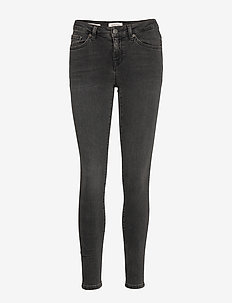 SLFIDA MW SKINNY SMOKE GREY JEANS W NOOS - BLACK DENIM