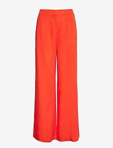 SLFTONIA HW PANTS B - bukser med brede ben - cherry tomato