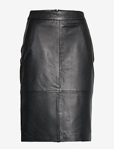 SLFMAILY HW LEATHER SKIRT W - BLACK