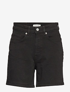 SLFEA MW BLACK DENIM SHORTS W - BLACK DENIM