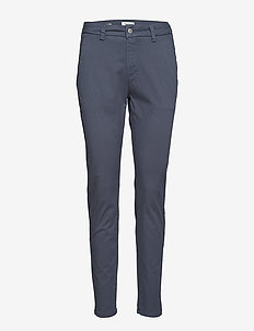 SLFMEGAN MW CHINO NOOS W - chinos - ombre blue
