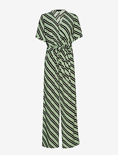 SLFPIXIE SS WIDE JUMPSUIT B - LAUREL GREEN