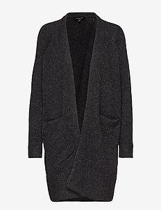 SLFLANNA LS KNIT CARDIGAN NOOS - swetry rozpinane - dark grey melange