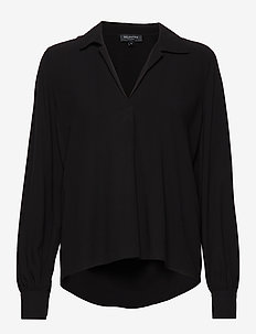 SLFDAISY LS TOP NOOS - long sleeved blouses - black
