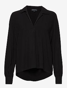 SLFDAISY LS TOP NOOS - long sleeved blouses - black
