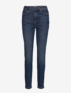 SLFHALEY HW SLIM BLUE DELUGE JEANS W - DARK BLUE DENIM