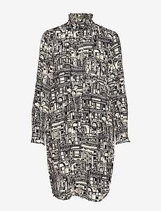 SLFIRMA LS SHIRT DRESS B - BLACK