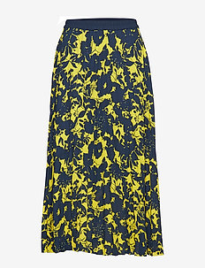SLFDESIREE MW MIDI SKIRT EX - jupes midi - vibrant yellow