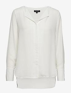 SLFSTINA-DYNELLA LS SHIRT NOOS - long sleeved blouses - creme