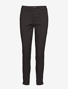SLFMUSE FIE CROPPED MW PANT BLACK NOOS - straight leg trousers - black